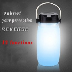Creative Luminous Folding Water Bottles Solar Energy Usb Charging Silicone Gel Water Bottle Camping Hiking Outdoor Portable Emergency Light Intl On Line