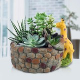 Buy Creative Resin Succulent Plant Pot Container Herb Flower Basket Home Garden Decor Giraffe Intl Oem Original