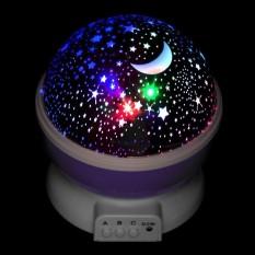 Creative Starry Sky Projector Rotating Night Lights Lamp Kids Baby Bedroom Decor - intl
