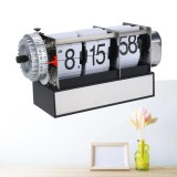 Get The Best Price For Creative Vintage Auto Flip Style Quartz Metal Desk Second Clock Retro Modern White Intl