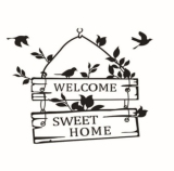 Compare Price Creative Welcome Sweet Home Decoration Wall Decals Decorative Removable Vinyl Wall Stickers For Home On Singapore