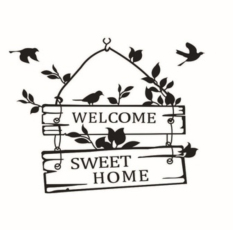 Price Creative Welcome Sweet Home Decoration Wall Decals Decorative Removable Vinyl Wall Stickers For Home Online Singapore