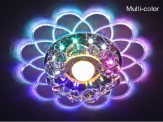 Crystal 3W LED SMD 5730 Lotus Ceiling mounted Light Fixture Hall Porch Cafe Lamp - intl