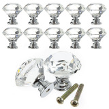 Crystal Cabinet Glass Knob 40Mm Clear 16Pcs Set Promo Code