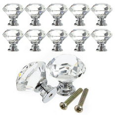 Price Crystal Cabinet Glass Knob 40Mm Clear 16Pcs Set Oem