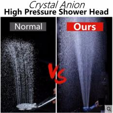 Crystal Powerful High Pressure Anion Filter Shower Head (3 Modes) By Jr Kreation.