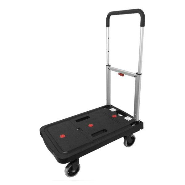 Crystar Foldable Platform Trolley Ct120 120Kg Black