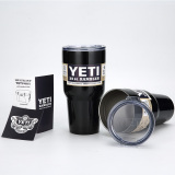 Cup Gift Rambler Tumbler Stainless Steel Bottle With Lid 30 Oz Black Intl On Line