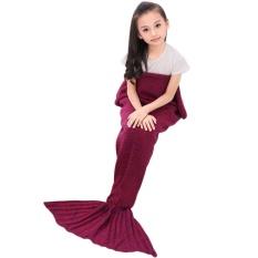 cushan Crochet Mermaid Tail Blanket for Kids Teens Adult,Crochet Knitting Blanket Seasons Warm Soft Living Room Sleeping Bag Best Birthday Christmas Gift 20x50 Inch,Purple - intl