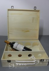 Four a Red Wine Gift Box Grape Wine Box Top Grade Four Only Pine Packaging Wooden Box Custom-Built Four Bottled Wine Box