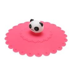 Cute Anti-dust Silicone Glass Cup Cover Coffee Seal Lid Cap (Panda) -