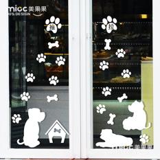Sale Dog Sliding Door Welcome To Glass Door Decorative Wall Stickers Bone Online On China
