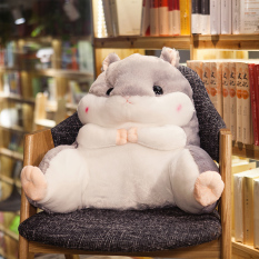 Cute Totoro Hamster Students Lumbar Support Pillow Chair Waist Pillow Back throw pillow Backrest throw pillow Car Office Pillow Creative