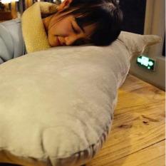 Cute Shadow Cat Sofa And Chair Back Cushion Stuffed Bolster Cushions Creative Decorative Cushion Pillow Washable Waist Throw Pillow Grey 70Cm Best Buy
