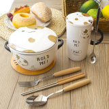 Sale Cute With Lid Spoon Office Couple Cup Zh Branded