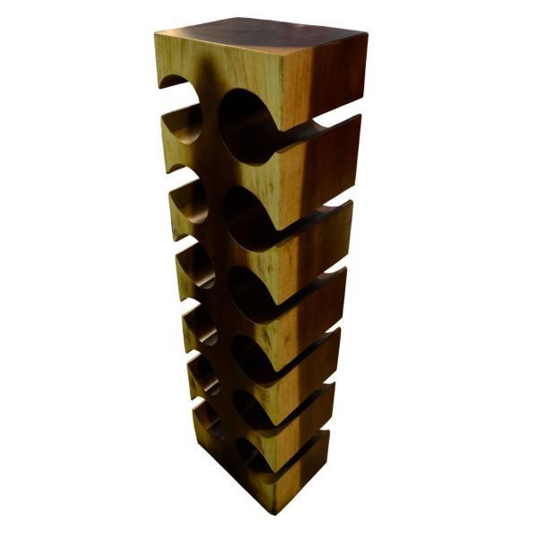 D117 Wine Holder A 12 Hole - Suar