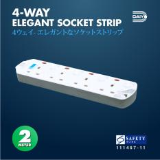 Get The Best Price For Daiyo 4 Way Elegant Surge Protector Power Extension Socket Strip With 2 Meter Power Cord