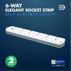 Sale Daiyo 6 Way Elegant Surge Protector Power Extension Socket Strip With 2 Meter Power Cord Daiyo