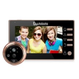 Danmini Yb 43Chd M 4 3 Inch Screen 3 0Mp Security Camera No Disturb Peephole Viewer Digital Peephole Door Bell Support Night Vision And Pir Motion Detection And Tf Card And Video Recording Gold Intl Diylooks Discount