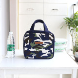 Promo Fashion Japanese And Korean Style Camouflage Canvas Portable Lunch Bag