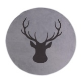 Deer Print Round Anti Slip Rug Floor Mat Carpet For Bedroom And Living Room Intl Compare Prices
