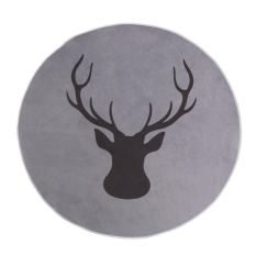 Compare Prices For Deer Print Round Anti Slip Rug Floor Mat Carpet For Bedroom And Living Room Intl