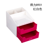 Promo Deli Multifunction Pen 9115 Desktop Office Supplies Business Card Storage Student Stationery Induction Finishing Box