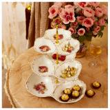 Compare Prices For Rc Global European Style Porcelain Fruits Platter Serving Platter Cake Platter Finger Food Platter Food Stand Rack Cake Stand Holder Desserts Holder 3 Tiers 高级现代欧式陶瓷 3 层水果点心蜜饯盘)