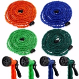 Retail Deluxe 100 Feet Expandable Flexible Garden Water Hose W Spray Nozzle Intl