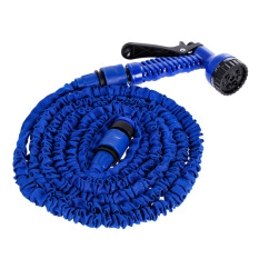 Deluxe Expandable Flexible Garden Water Hose 50 Feet Blue By Welcomehome.
