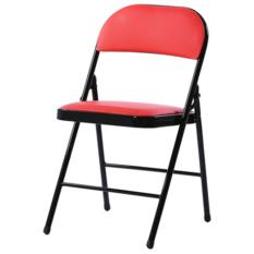 JIJI (Designer Simple Folding Chair ( Black Frame )) (Designer Dining Chair) /Conference Chair/Exhibition chair/Pantry /Storage /Trainee /Foldable /Meeting