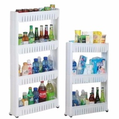 Details about New Moving Rack Kitchen Storage Shelf Wall Cabinets Bedroom Bathroom Organizer White - intl