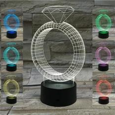 Diamond Ring Shaped Rgb Colorful Led Night Lamp As Atmosphere 3D Nightlight Romantic Valentien S Day Gifts Intl Best Buy