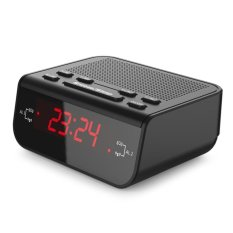 Cheap Digital Alarm Clock Fm Radio W Dual Alarm Red Led Snooze Black Intl