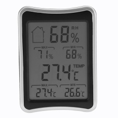 Digital Wireless Indoor Thermometer Hygrometer Humidity Monitor With Lcd (black) - Intl By Crystalawaking.