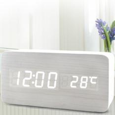 5c. Digital Wooden Rectangle Alarm Clock (Clock & Alarm Clock)