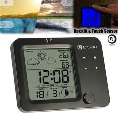 Discount Digoo Touch Sensor Thermometer Hygrometer Humidity Meter Room Temperature Clock Black Intl Digoo