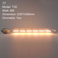 Dimmable E27 Edison Vintage Warm Yellow LED Bulbs Filament COB Lamp Retro Globe Lighting AC 220V #17 - intl
