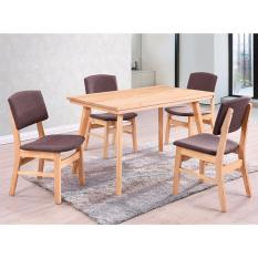 Dining Set 4 chairs + 1 table 1350mm Solid Pine Wood DS006