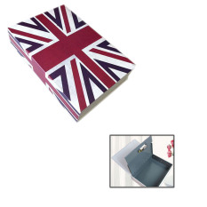 Disguised Book Style Security Home Money Safe Cash Box Lock M Size Union Jack