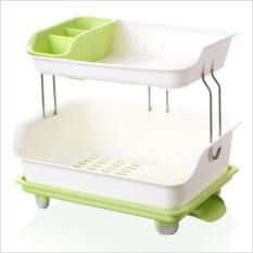 Sale Dish Rack With Cup And Cutlery Holder Dish Drainer Drying Holder Korean Style Online On Singapore