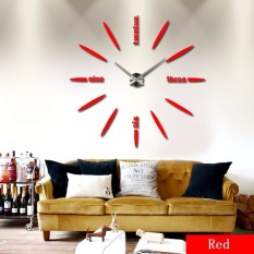 Diy 3D Home Modern Decor Wall Stickers Mirror Trendy Wall Clock Compare Prices