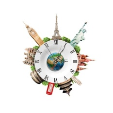 Price Comparison For Diy 3D Wall Stickers Clock Wall Decal Clock 3D Art Wall Clock Intl
