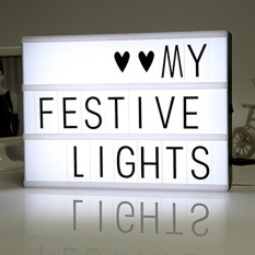 Where Can You Buy Diy Free Combination Cinematic Light Box With Letters And Led Light A4 Size Luminous Box Intl