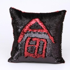 Price Compare Diy Two Tone Glitter Sequins Throw Pillows Decorative Cushion Covers A Intl