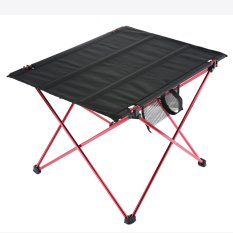 dmscs Folding Camping Table Ultralight Portable Hiking Picnic Mountaineering Table with Carrying Bag,Red - intl