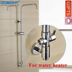 Buy Doboht Chrome Ultrathin Rainfall Shower Faucet Set Swivel Tub Spout Bath Shower Mixer Tap For Water Heater Intl Doboht Online