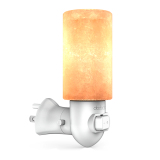 Top Rated Dodocool Natural Crystal Himalayan Salt Lamp Yellow Night Light Release Negative Ions Purify Air With E12 10W Incandescent Bulb On Off Switch And 270� Rotatable Us Wall Plug White Ac120V Intl