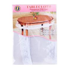 Buy Dolphin Collection Pvc Clear Tablecloth Oval With Lace 52 X 70 Oem Original