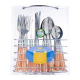 Sale Dolphin Collection Stainless Steel Cutlery Set 24Pc Handle Orange Dolphin